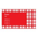Red Tartan Business Card