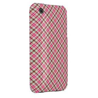 Red Tartan Case-Mate iPhone 3 Case