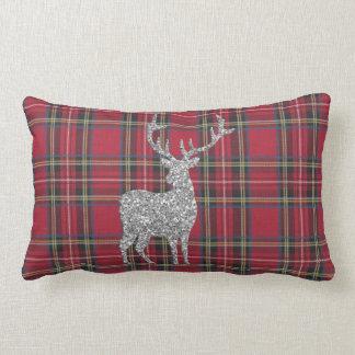 Red Tartan Lumbar Pillow