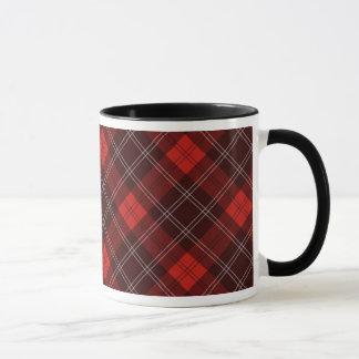 Red tartan mug