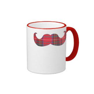 Red Tartan Mustache Mug
