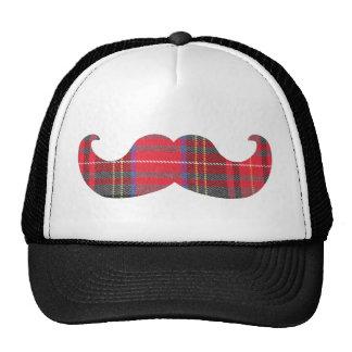 Red Tartan Mustache Trucker Hat