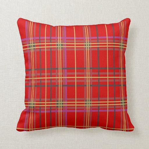 Red Plaid Throw Pillows : Red Tartan or Plaid Throw Pillows Zazzle