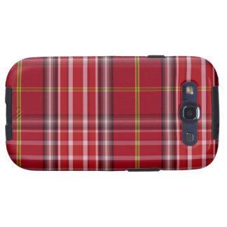 Red Tartan Pattern Fabric Texture Android Case Samsung Galaxy S3 Cover