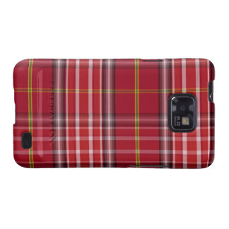 Red Tartan Pattern Fabric Texture Android Case Galaxy S2 Case