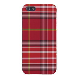 Red Tartan Pattern Fabric Texture iPhone 4/4S Case