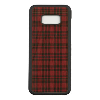 Red Tartan Phonecase Carved Samsung Galaxy S8+ Case