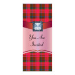 Red tartan plaid any occasion card