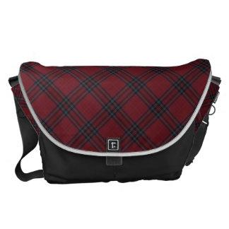 Red Tartan Plaid Pattern Courier Bag