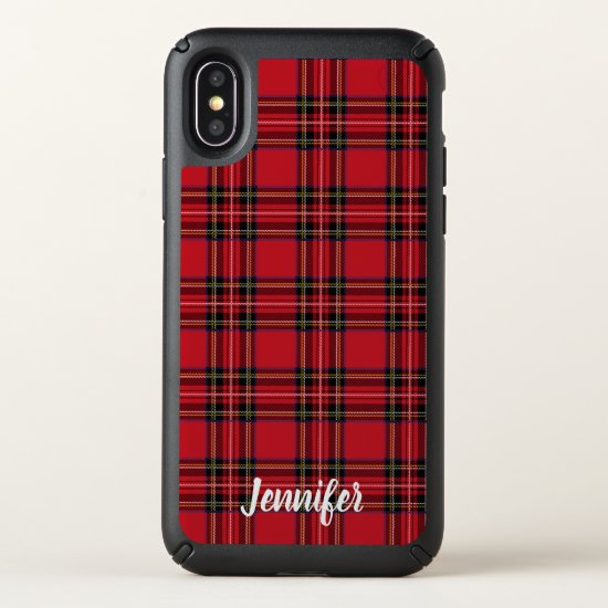 Red Tartan Plaid Speck Presidio iPhone X Case