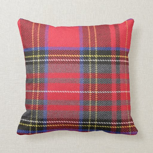 Red Tartan Plaid Throw Pillow Zazzle