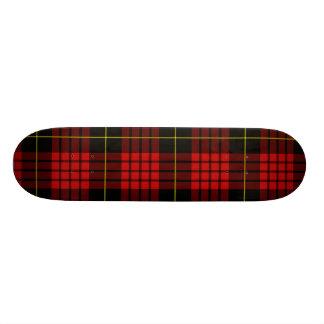 Red Tartan Skateboard