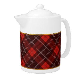 Red Tartan Teapot