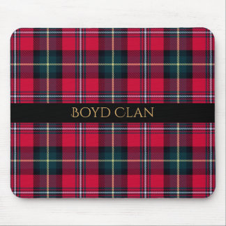 Red Tartan with Name or Initial(s) Mouse Pad