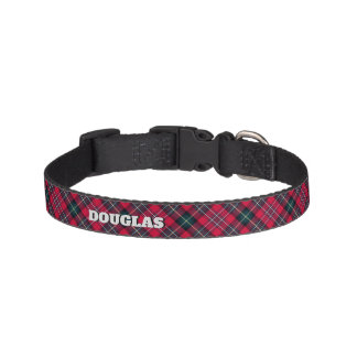 Red Tartan with (or without) Dog's Name Pet Collar