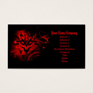 Red Tattoo Business card