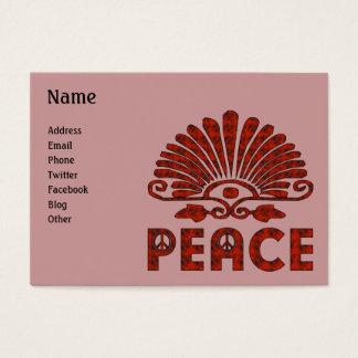 Red Tattoo Peace Art Business Card