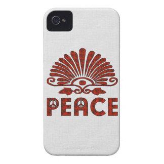 Red Tattoo Peace Art iPhone 4 Case