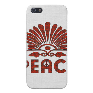 Red Tattoo Peace Art Cover For iPhone 5