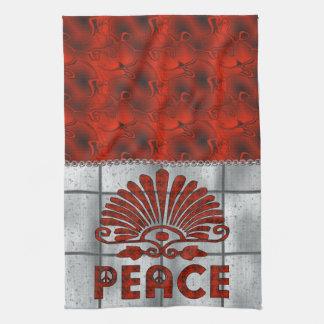Red Tattoo Peace Art Kitchen Towels