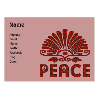 Red Tattoo Peace Art Large Business Card