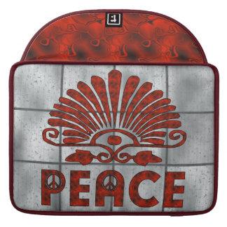Red Tattoo Peace Art MacBook Pro Sleeve