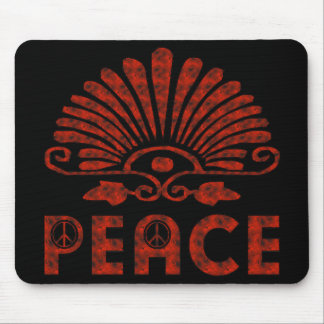 Red Tattoo Peace Art Mouse Pad