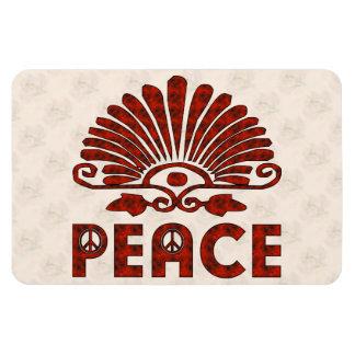 Red Tattoo Peace Art Rectangular Photo Magnet