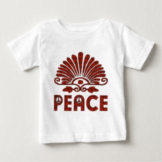 Red Tattoo Peace Art Tee Shirts