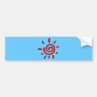 RED TATTOO SUN SUNSHINE GRAPHIC VECTOR SYMBOL LOGO BUMPER STICKER