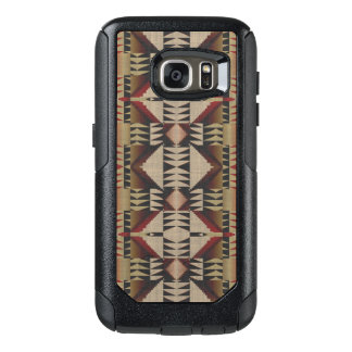 Red Taupe Brown Ochre Black Tribal Mosaic Pattern OtterBox Samsung Galaxy S7 Case