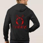 Red Taurus Horoscope Symbol Hoodie