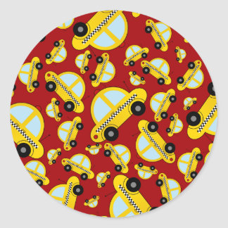 Red taxi pattern stickers