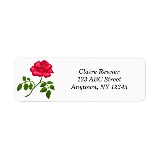 Red Tea Rose Labels
