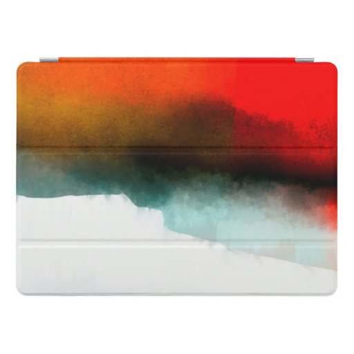 Red, Teal and White Abstract iPad Case