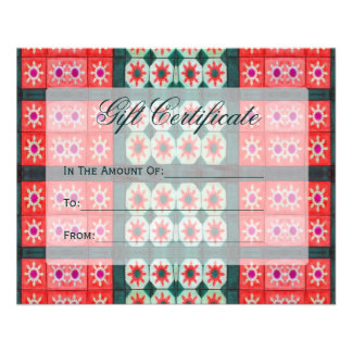 Red Teal Gift Certificates Flyer Design