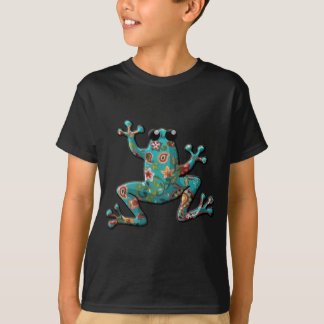 Red Teal Paisley Frog T-Shirt