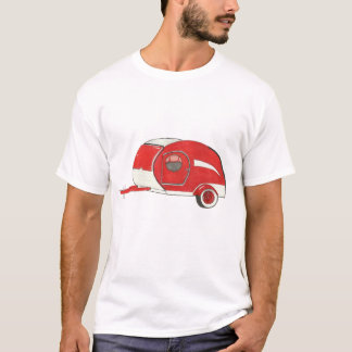 Red Teardrop Camping Trailer Man's Tee Shirt