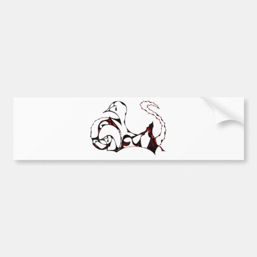 Red Tearful Swans Bumper Stickers