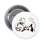 Red Tearful Swans Button