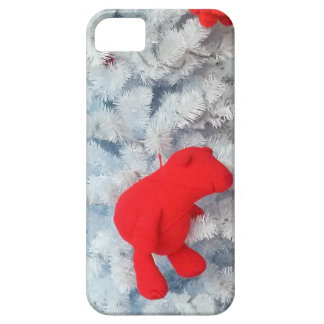Red Teddy bear in Christmas Tree iPhone SE/5/5s Case