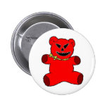 Red Teddy Pinback Button