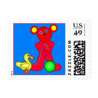 Red Teddy Postage