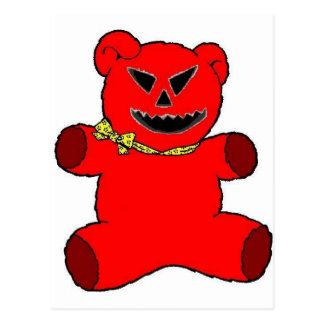 Red Teddy Postcard