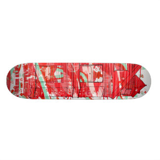 red tee house skateboard deck