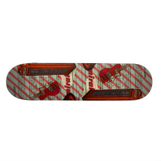 Red Telephone Band Rock n Roll Electric Guitar Skateboard Deck