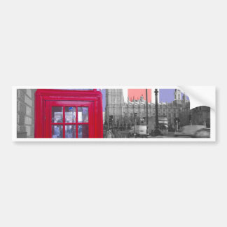 Red Telephone Big Ben Bumper Sticker