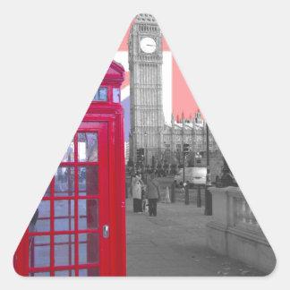 Red Telephone Big Ben Triangle Sticker