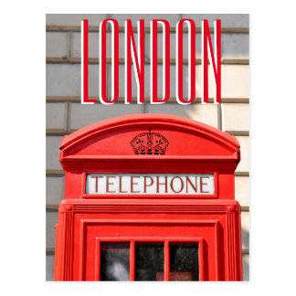 Red telephone boot in London Postcard