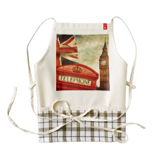 Red telephone booth and Big Ben in London, England Zazzle HEART Apron